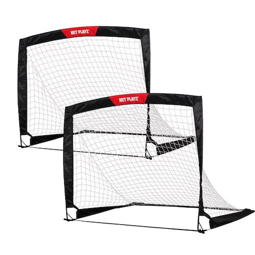 4. Net Playz 4ftx3ft Easy Fold-Up Portable Training Soccer Goal, Set of 2