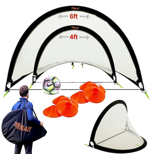 9. Pop Up Soccer Goal Set of 2 by Trailblaze