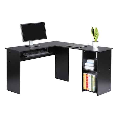 2. LANGRIA Modern L-Shaped Desk