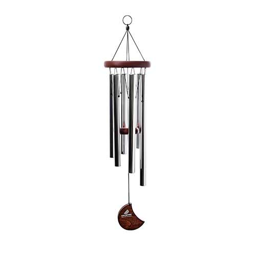 6. Euforyjam 28 - Inch Tuned Moon Wind Chime, Silver