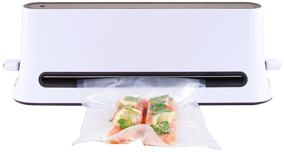 10. Vacuum Sealer for Food Freshness Preservation and Sous Vide Cooking; Starter Set includes Bags, Rolls, and Accessory Hose