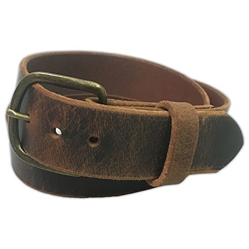 6. Jean Belt, Crazy Horse Water Buffalo Leather