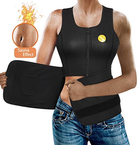 6. Junlan Women Sauna Waist Trainer Vest