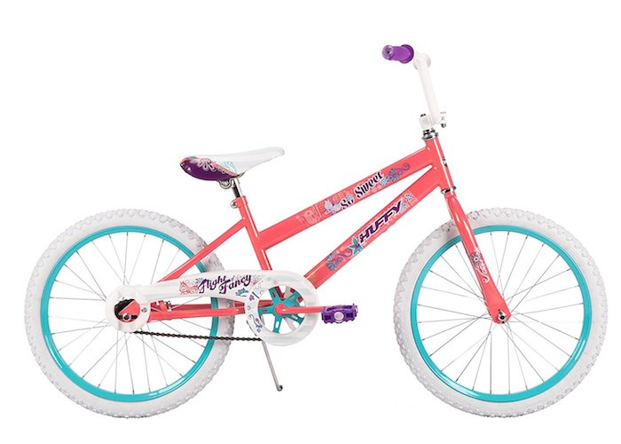 3. 20-inch Huffy So Sweet Girls' Bike, Coral Pink