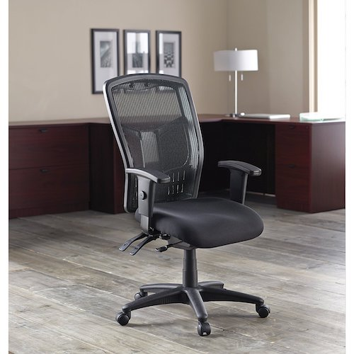 Top 10 Best Mesh Office Chairs Under $200: 8. Lorell Executive High-Back Chair, Mesh Fabric, 28-1/2