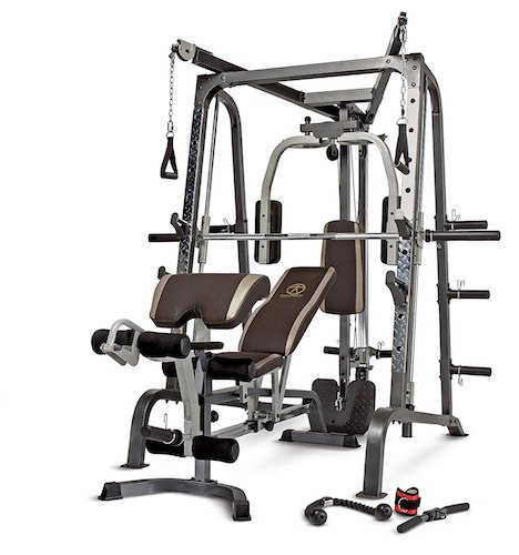 10. Marcy Smith Cage Workout Machine Total Body Training Home Gym System with Linear Bearing MD-9010G