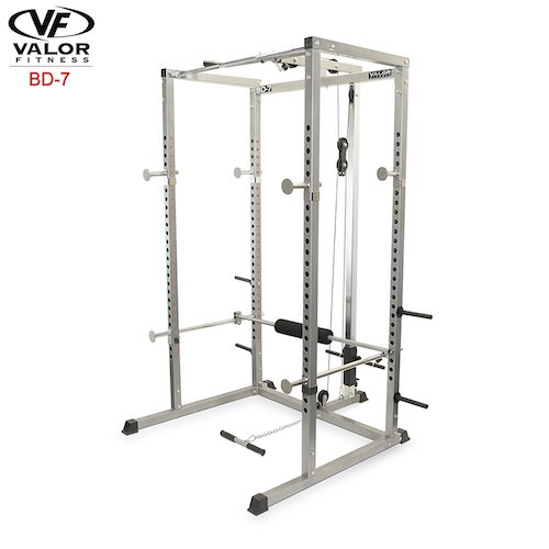 Top 10 Best Fitness Power Racks Under $500: 3. Valor Fitness BD-7 Power Rack with Lat Pull Attachment