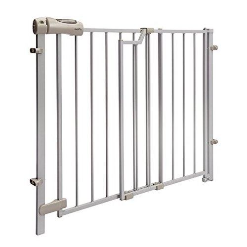 2. Evenflo Easy Walk Thru Top Of Stairs Gate