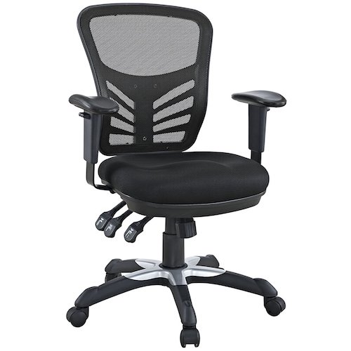 Top 10 Best Mesh Office Chairs Under $200: 4. Modway Articulate Ergonomic Mesh Office Chair in Black