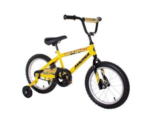 Best 16 Inch Bikes with Training Wheels 1. Dynacraft Magna Major Damage Boys BMX Street/Dirt Bike 16, Yellow/Black