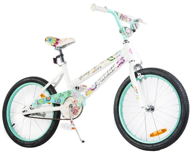 8. Tauki 20 Inch Girl Bike Kid Bike for Girls, Green/Pink, 95% assembled, for 8-14 Years Old