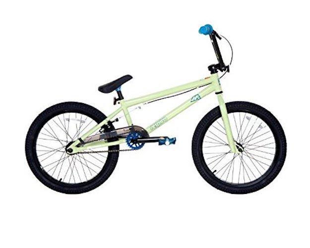 7. Dave Mirra Boys 8110-04T 20-Inch Respiro/Mirraco Bike, Soft Light Green/Black/Blue