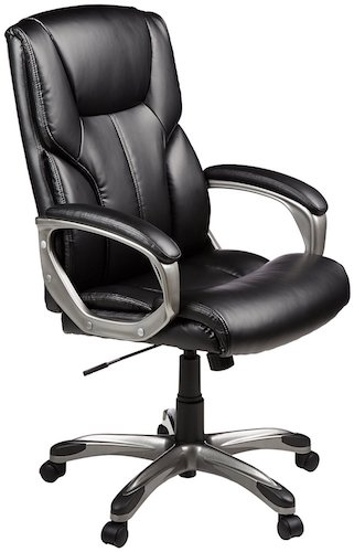 Top 10 Best Ergonomic Office Chairs Under $200 4. AmazonBasics High-Back Executive Chair