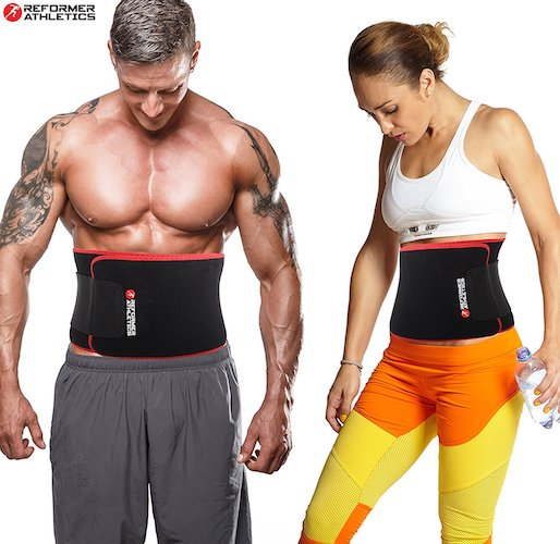 8. Waist Trimmer Ab Belt Trainer for Faster Weight Loss. Includes FREE Fully Adjustable Impact Resistant Smartphone Sleeve for iPhone 7 and iPhone 7 Plus