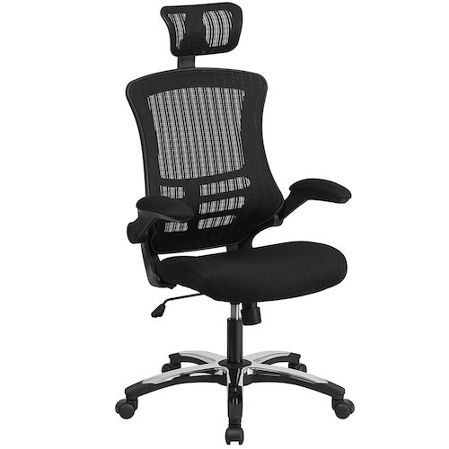 Top 10 Best Mesh Office Chairs Under $200: 1. Flash Furniture High Back Black Mesh Executive Swivel Chair with Chrome Plated Nylon Base and Flip-Up Arms