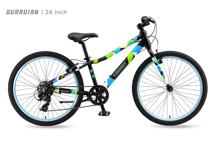 8. Guardian Lightweight Kids Bike, 20 Inch and 24 Inch, Safe Patented SureStop Brake System, Kids Mountain Bike, Bike Sizes for Kids 3' 9