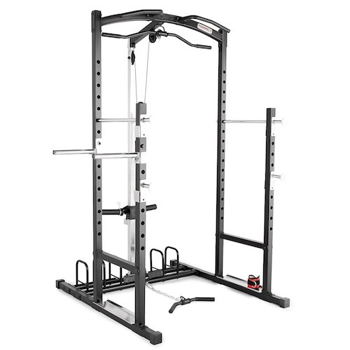 1. Marcy Weight Bench Cage Home Gym