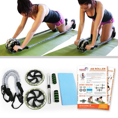 Best Ab Machines at Gym 4. Furious FitwearAb Roller Wheels for Men & Women