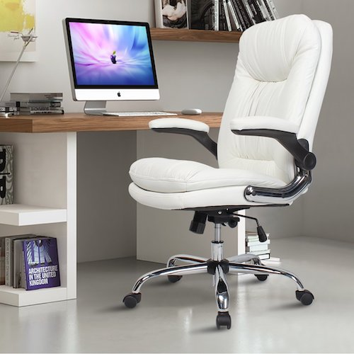 Top 10 Best Ergonomic Office Chairs Under $200 8. YAMASORO Ergonomic Executive Office Chair High-Back PU Leather Computer Desk chair with Flip-Up Arms, Swivel, Big and Tall White