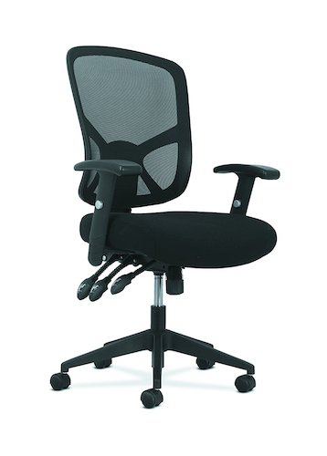 Top 10 Best Mesh Office Chairs Under $200: 9. Sadie Customizable Ergonomic High-Back Mesh Task Chair with Arms and Lumbar Support - Ergonomic Computer/Office Chair (HVST121)