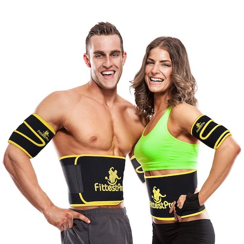 9. Fittest Pro Waist Trimmer Ab Belt (1 Piece) & FREE Arm Trimmer (1 Pair) - Neoprene Trainer & Shaper - Slimming Flex Sauna Belt - Belly, Fat Loss, Weight Loss Belt - Ab Trainer, Back Brace, Abdominal Support