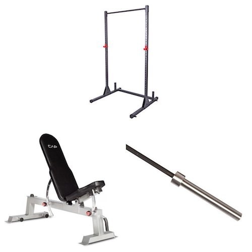 Top 10 Best Fitness Power Racks Under $500: 6. Cap Barbell Power Rack Exercise Stand