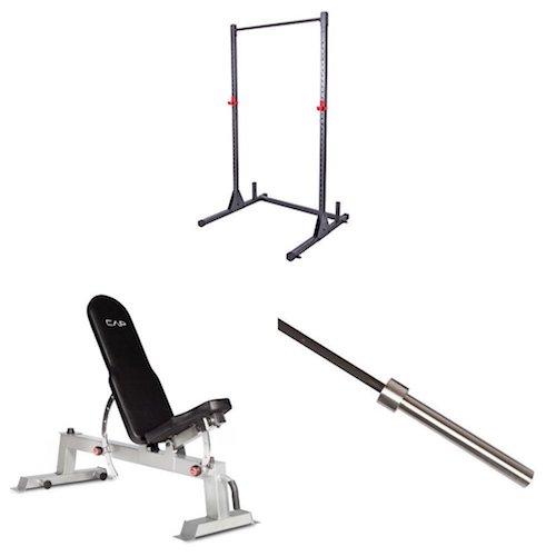 Top 10 Best Fitness Power Racks Under $500: 6. Cap Barbell Power Rack Exercise Stand
