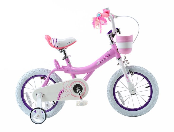 Best 16 Inch Bikes with Training Wheels 5. RoyalBaby Jenny & Bunny Girl's Bike with basket, 12, 14, 16 or 18 inch girls bike with training wheels, gifts for kids, girls' bicycles