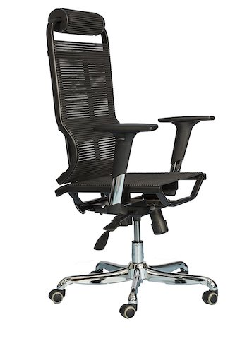 Top 10 Best Mesh Office Chairs Under $200: 10. Flexi-Ergonomic Office Chair High Back – Breathable Comfortable Bungee Seat Mesh & Leather Alternative Executive Computer Desk Task Chair w/ Adjustable Arms, Reclining Ergo Rolling Black Swivel Chair