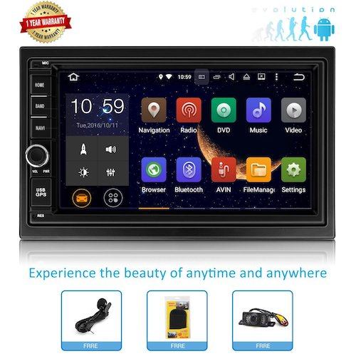 Top 10 Best Double Din Android Car Stereos: 6. Android Car Stereo Double Din Car Stereo Double Din GPS Car Stereo With Bluetooth Touch Screen Radio GPS for Car Android Head Unit Android Double Din GPS Navigation for Car Double Din Android 7.1