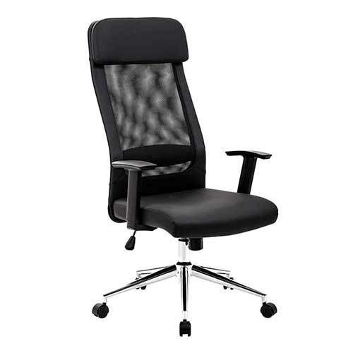 Top 10 Best Ergonomic Office Chairs Under $200 9. KADIRYA Extra High Back Mesh Office Chair - Computer Desk Task Chair with Padded Leather Headrest and Seat,Adjustable Armrest,Ergonomic Design for Back Lumbar Support, Black (Black)