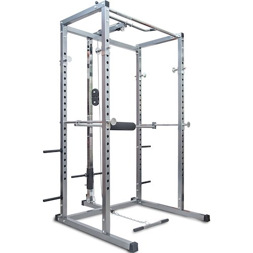 Top 10 Best Fitness Power Racks Under $500: 7. Merax Athletics Fitness Power Rack Olympic Squat Cage with Lat Pull Attachment