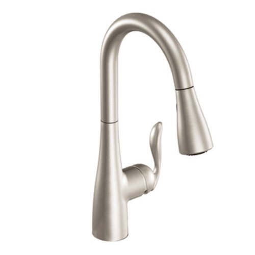7. Moen Arbor One-Handle High Arc Pulldown Kitchen Faucet Featuring Reflex, Spot Resist Stainless (7594SRS)