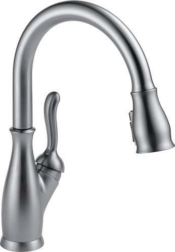 5. Delta 9178-AR-DST Leland Single-Handle Pull-Down Kitchen Faucet with Magnetic Docking Spray Head, Arctic Stainless