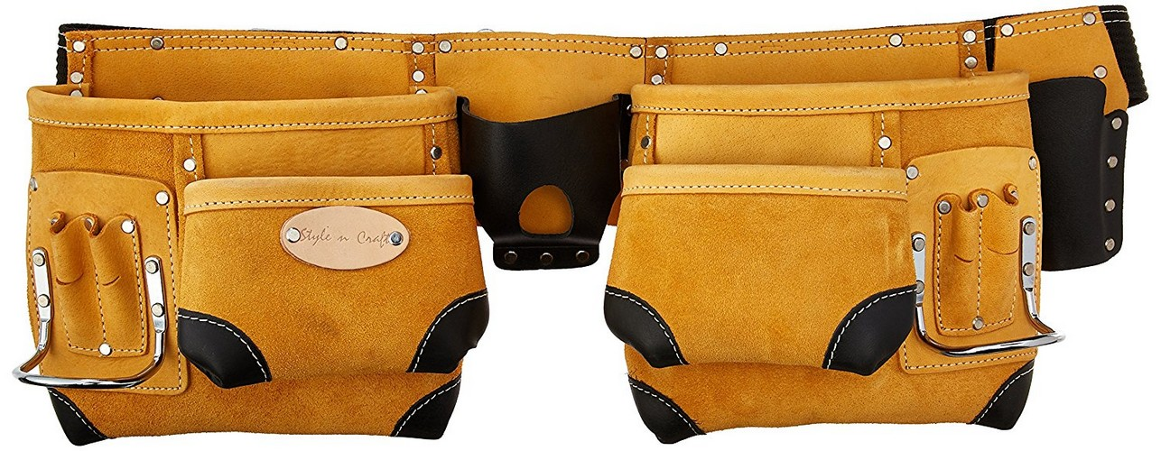 7. Style n Craft 93-428 10 Pocket Top Grain Tool Belt