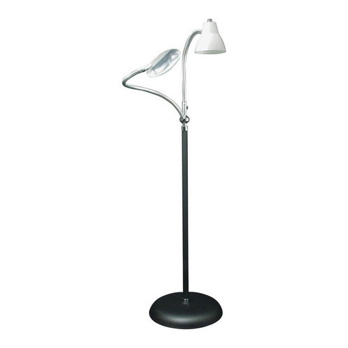 BEST READING FLOOR LAMPS 9. 2-Arm Combination Floor Lamp and 2x Magnifier