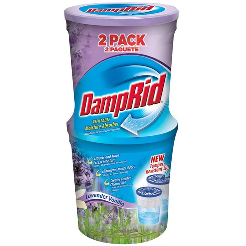 Best Odor Absorbers For Car 9. DampRid FG60LV Moisture Absorber, Lavender Vanilla, 10.5-Ounce, 2-Pack