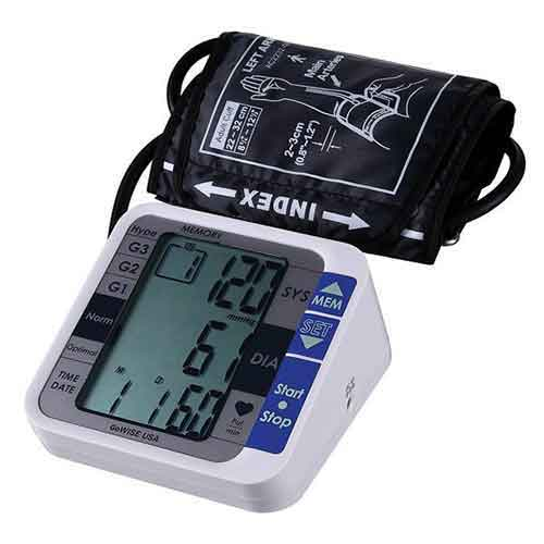 Best Upper Arm Blood Pressure Monitors 3. GoWISE USA Digital Upper Arm Blood Pressure Monitor