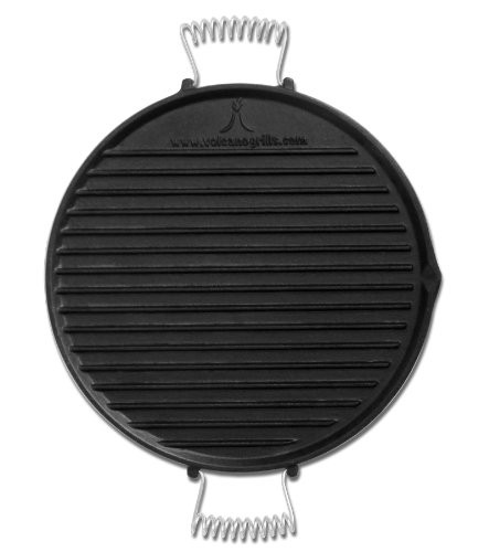 Best Stove Top Griddle For Pancakes 8. Volcano Grills Reversible Pre-Seasoned Cast Iron Griddle/Skillet