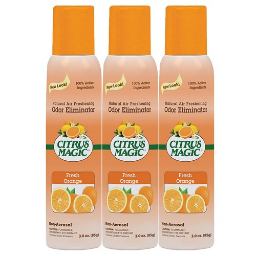 Best Natural Air Fresheners 1. Citrus Magic 3-Pack Natural Odor Eliminating Air Freshener Spray, Fresh Orange, 3-Ounce