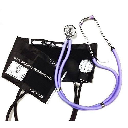 Best Stethoscopes for Blood Pressure 10. EMI Lilac Sprague Rappaport Stethoscope and Black Blood Pressure Kit - M#340