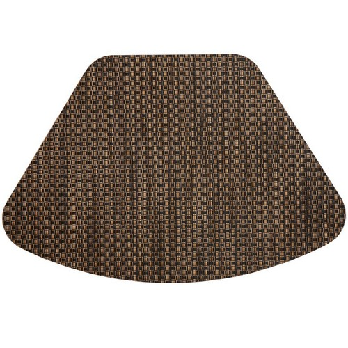 Best Place Mats for Round Tables 5. Set of 2 Driftwood (Black & Tan) Wipeable Wedge-Shaped Placemats for Round Tables