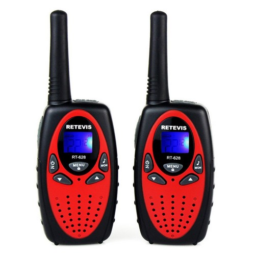 BEST WALKIE TALKIES FOR KIDS 1. Retevis RT628 Kids Walkie Talkies 22 Channel FRS Toy for Kids UHF 462.550- 467.7125MHz 2 Way Radio Toy (Red,2 Pack)