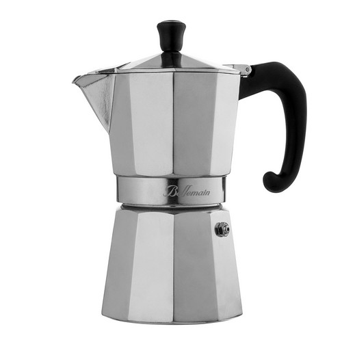 Best Stove Top Espresso Makers 1. Bellemain 6-Cup Stovetop Espresso Maker Moka Pot