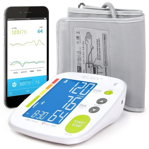 Best Upper Arm Blood Pressure Monitors 9. Greater Goods Bluetooth Blood Pressure Monitor