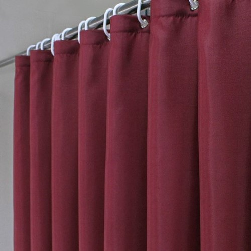 Best Shower Curtains for Small Room 10. Ufaitheart 36 x 78 Inch Polyester Shower Curtain Small Size, Waterproof and Mildew Resistant Bathroom Curtains Fabric, Burgundy