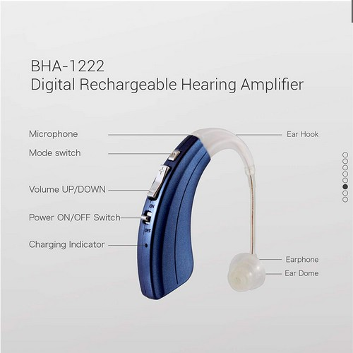 Best Hearing Aid Brands 5. Britzgo Digital Hearing Amplifier (Rechargeable) BHA-1222 (Pair)
