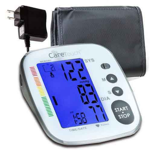 Best Upper Arm Blood Pressure Monitors 2. Care Touch Blood Pressure Monitor with AC Adapter