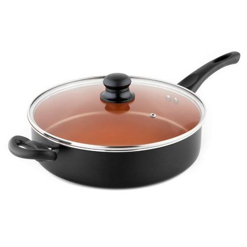 Best Non Stick Pans For Gas Stove 6. MICHELANGELO 5 Quart Copper Saute Pan