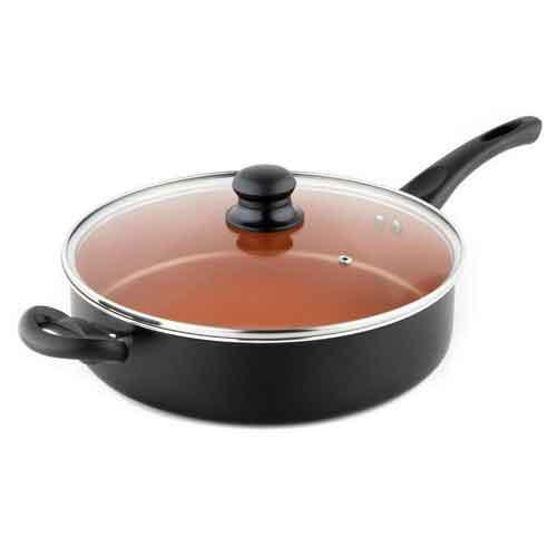 Best Non Stick Pans For Gas Stove 6. MICHELANGELO 5 Quart Copper Saute Pan